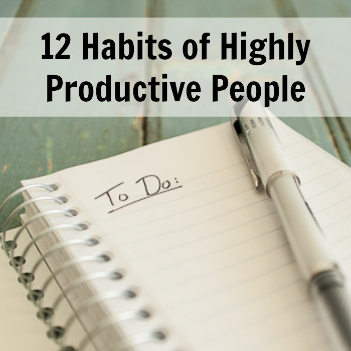 12 habits of highly productive people pick any two. Black Bedroom Furniture Sets. Home Design Ideas