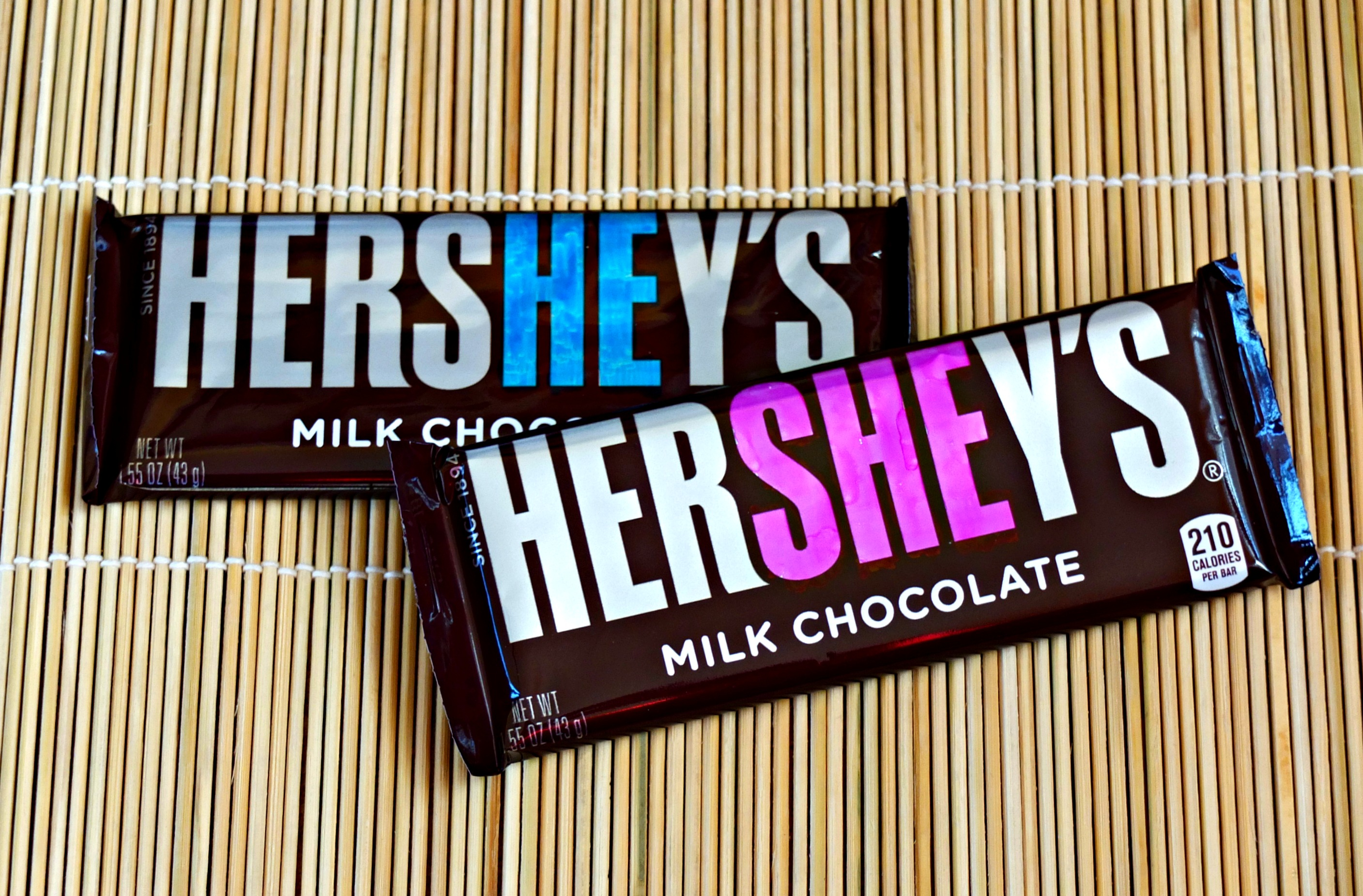 Cheap and Easy Baby Gender Reveal Idea Using Hershey Bars - Pick ...